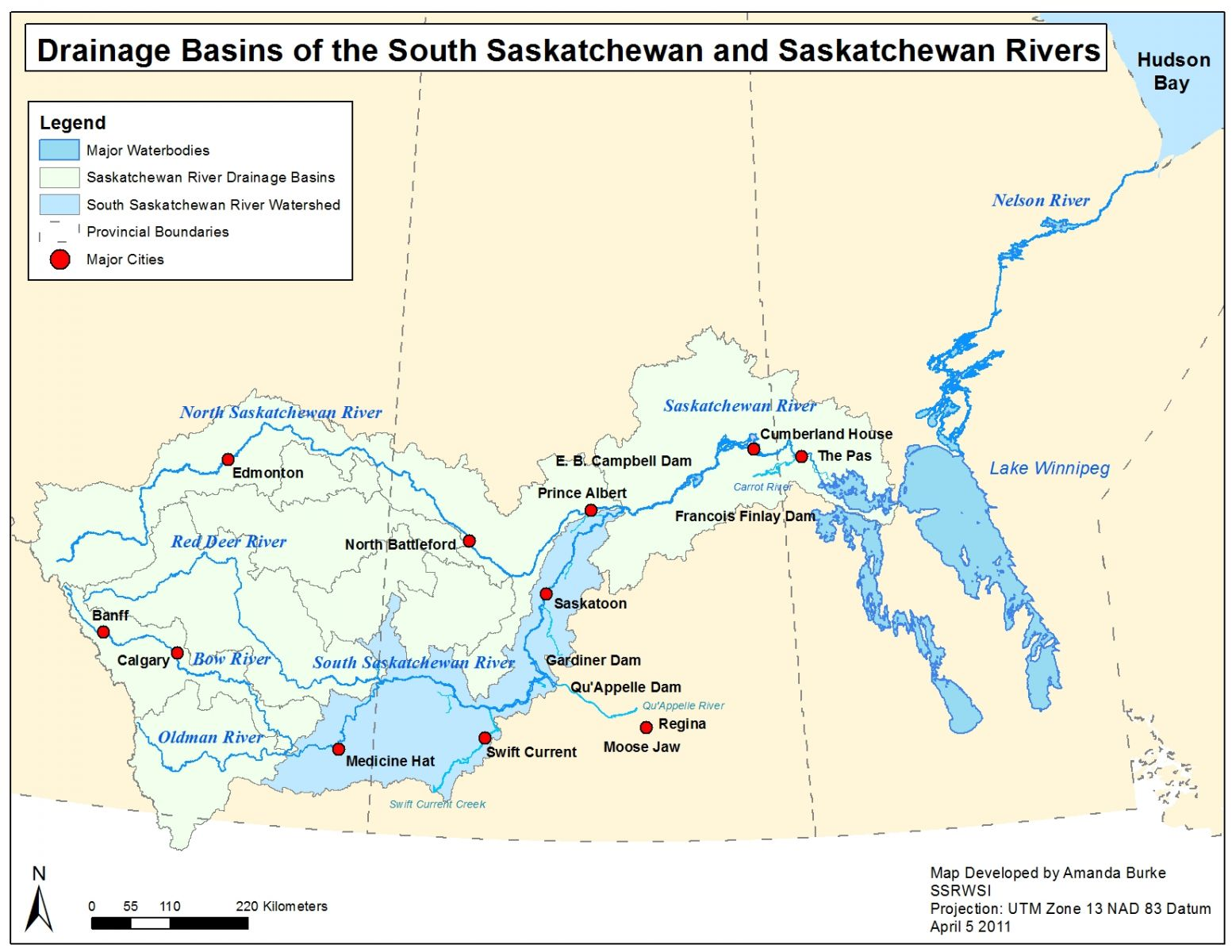 canada saskatchewan river map gallery